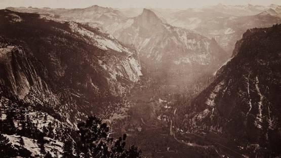 Carleton E. Watkins - Yosemite Valley from Eagle Point, 1878 (detail)
