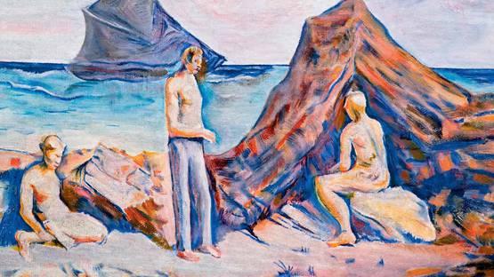 Carlo Carra - Uomini al mare, 1941- Image via pinterestcom
