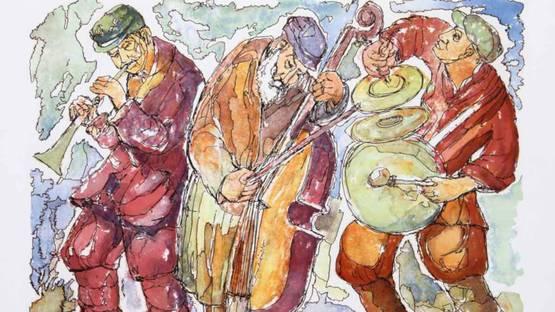 Chaim Goldberg - Trio, 1980 (detail)