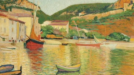 Charles Camoin - Port de Cassis (detail), 1901
