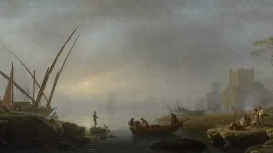 Charles-François Lacroix de Marseille - An Italian Port Scene (detail) image by Wikipedia