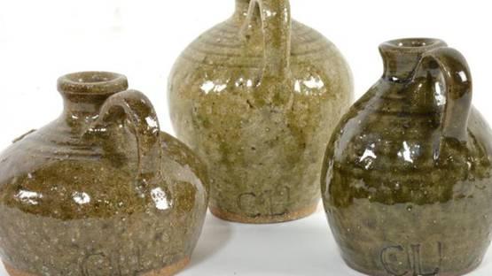 Charles Lisk - Miniature Art Pottery Jugs (detail)