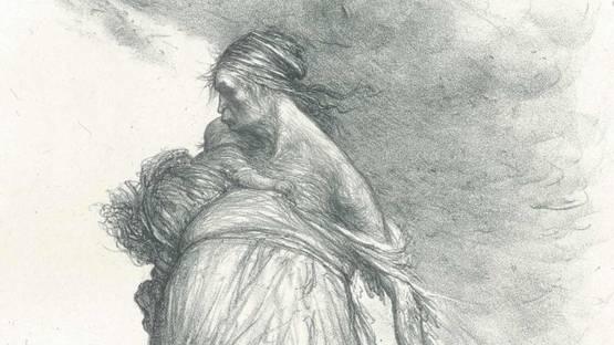 Charles-Lucien Léandre - Misère fertile - Sol stérile (Fertile Misery - Sterile Earth), 1910 (detail)