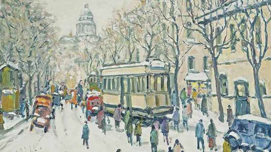 Charles Malle - Avenue des Gobelins, Paris (detail), photo via the-saleroom