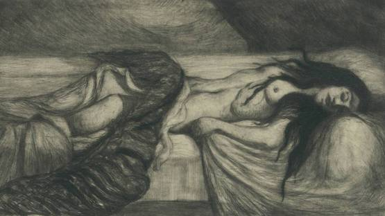 Charles Cottet - Tristesse, 1910 (detail)