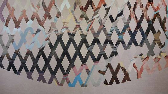 Chase Westfall - Lattice (diptych) - detail - 2011