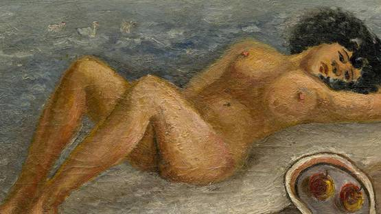 Chen Cheng-Po - Nude Female Lying and Resting by the Pond, 1932 (detail)