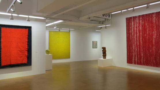 Chiyu Uemae - A Solitary Path, show at Whitestone Gallery, Hong Kong, 2015, courtesy Whitestone Gallery, installation view