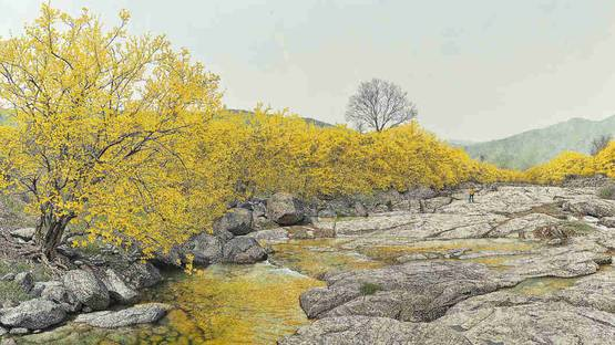 Choi Yeong-Geol - Finding Spring, photo via Christies.com