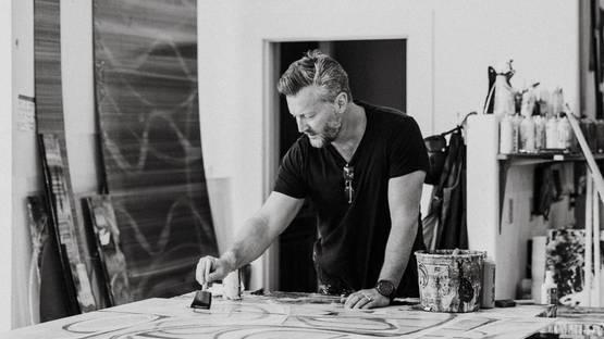 Christopher Martin in Studio - Photographed by Tara Marolda