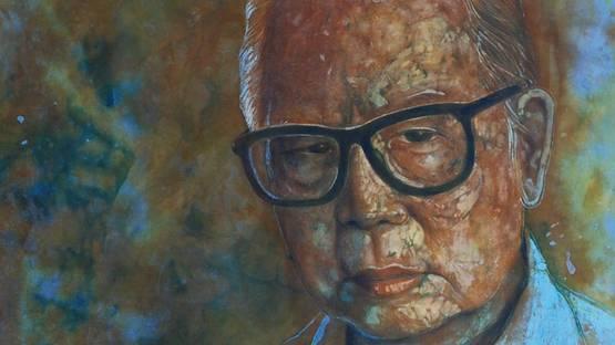 Chuah Thean Teng - Self Portrait (Detail), photo credits Galeripetronas.com
