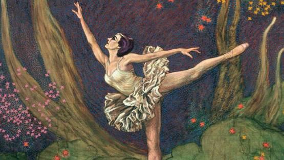 Claude Francis Barry - Arabesque (detail), Ballet Dancers series, photo via hubpages com