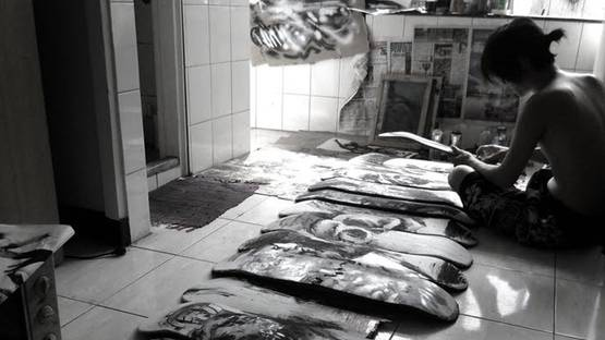 Colasa - artist in studio, photo credits of the artist