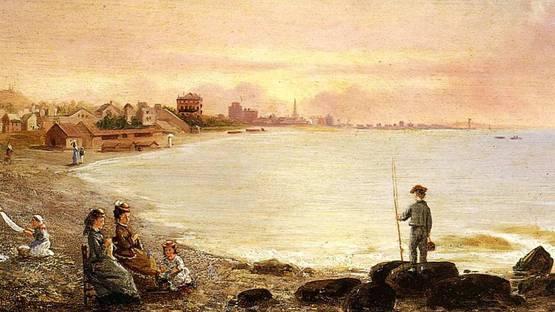 Conrad Wise Chapman - Sunrise at Saint Malo, 1878 - Image via oceansbridge