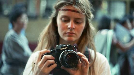 Corinne Day portrait by Mark Szaszy, Japan 1987