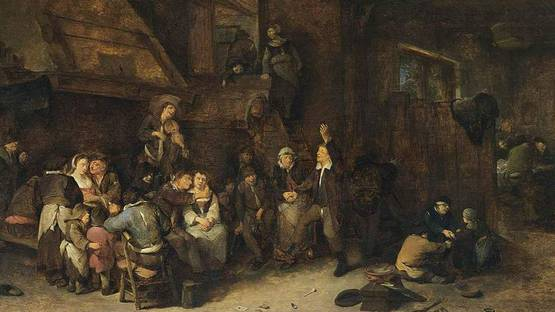 Cornelis Pietersz Bega - Tavern Interior (detail), photo via Wikimedia