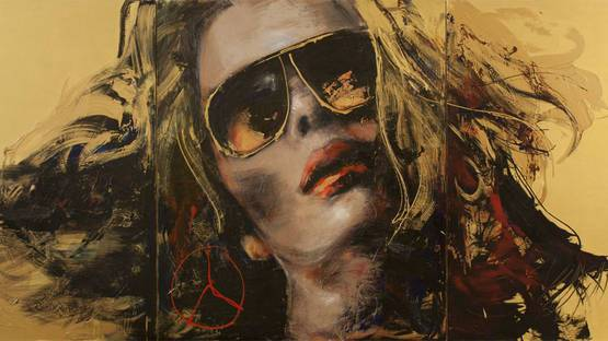 Corno - Golden Girl (detail), triptych (F102), photo credits of the artist