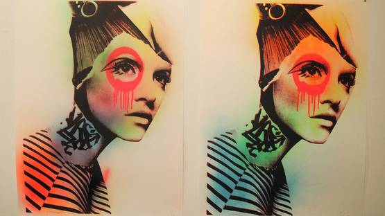 Dain - solo show at Folioleaf Gallery, Dumbo Brooklyn, NYC - installation view