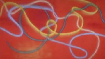Dan Christensen - Red-Red, 1968 (detail)