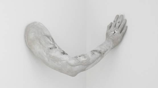 Daniel Arsham - White Selenite Spanning Corner, 2018