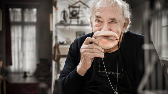 Daniel Spoerri, photo by Rita Newman