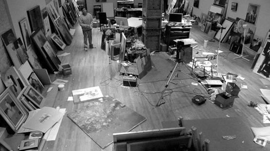 Danny McCaw in the studio