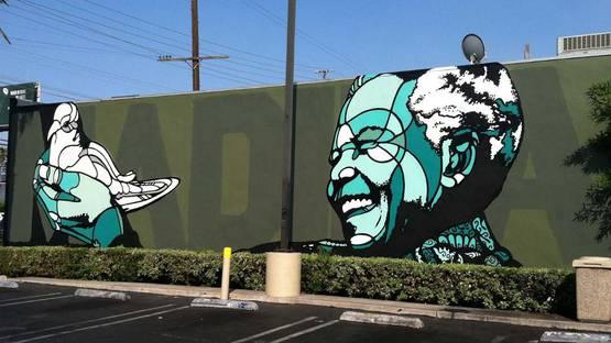 David Flores - Nelson Mandela, Los Angeles, 2013 - Copyright David Flores
