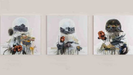 David Kim Whittaker - Boys in the Outskirts - Howlers Waltzers (triptych)