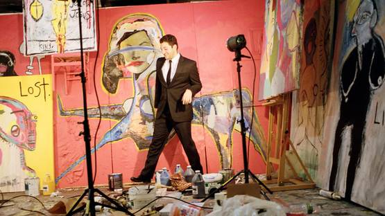 David King Reuben - artist in the studio, photo by Indigo Lewin