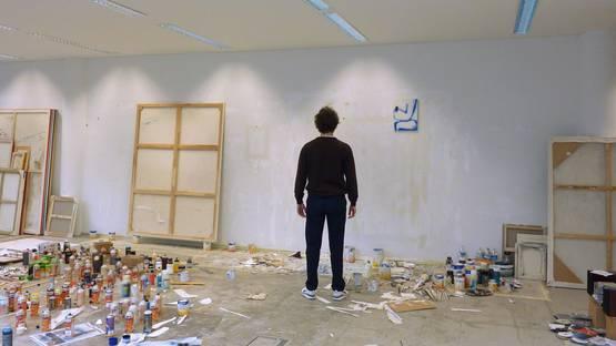 David Ostrowski - in his studio - photo courtesy of the artist