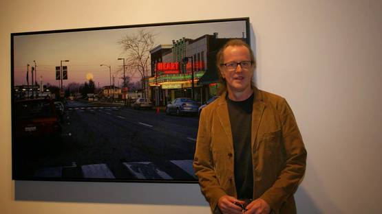 David Park in front of his work