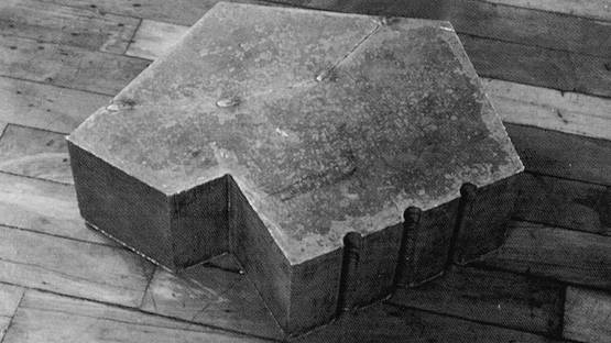 David Rabinowitch - Metrical Construction in 12 Masses, 1991, detail from the photo by Bomb Magazine