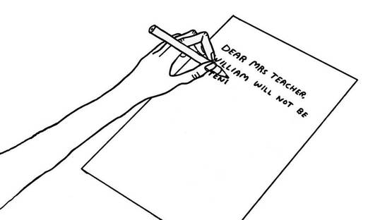 David Shrigley - The Letter, photo credits of the artist