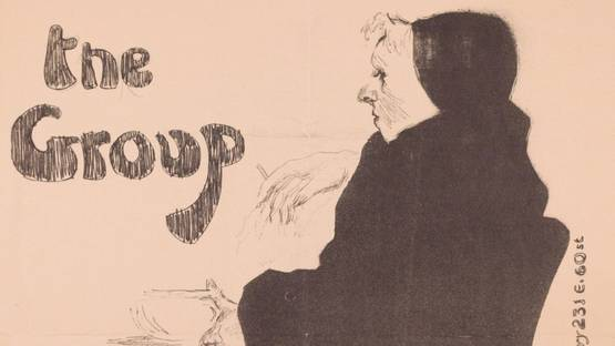 David Levine - The Group, 1954 (detail)