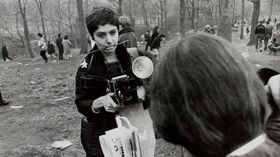 Diane Arbus - A photo of the artist at work in New York City - Image via americansuburbxcom