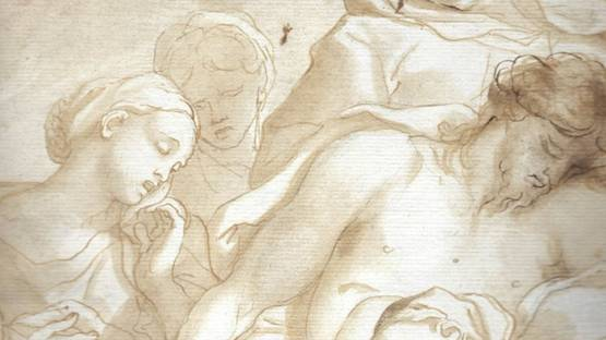Domenico Piola - Pieta, ca 1671 (detail)
