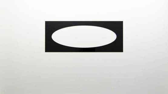 Douglas Allsop - Reflective Editor One Horizontal Elliptical Hole, Parallel Pattern, 2013