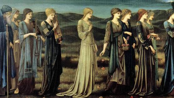 Edward Burne-Jones - The Wedding of Psyche (detail), 1895, photo via Wikiart
