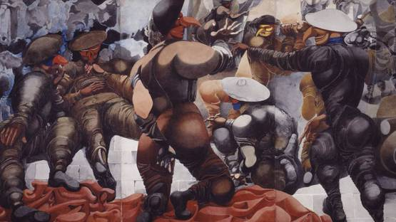 Edward Burra - Soldiers at Rye (detail) - 1941 - photo credits - Tate