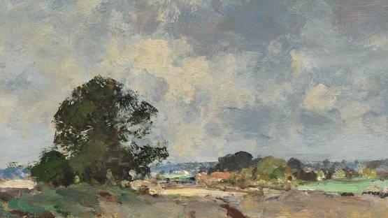 Edward Seago - Landscape near Upton - Image via pinterestcom