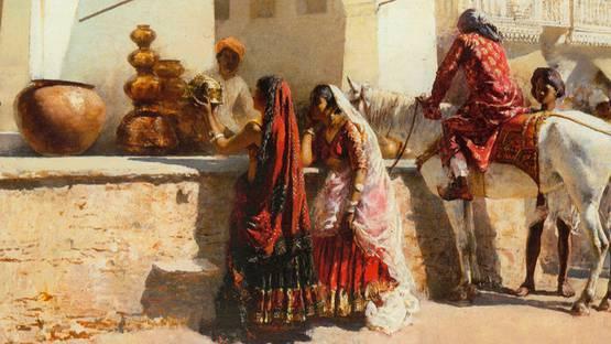 Edwin Lord Weeks - A Street Market Scene, India (detail)