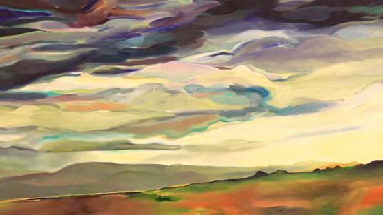 Elaine Galen - Skysweep (detail), 1991