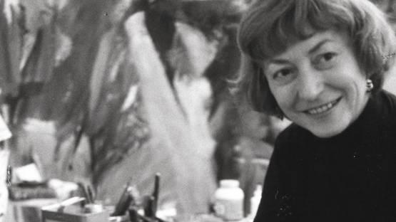 Elaine de Kooning - photo by Rudolph Burckhardt (detail), 1960