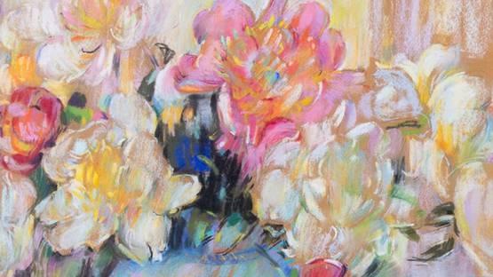 Elizabeth Hamilton Huntington - Still Life Bouquet (detail) - image via graysauctioneerscom
