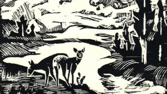 Ella Sophonisba Hergesheimer - Mount Rainier, 1939 (detail)