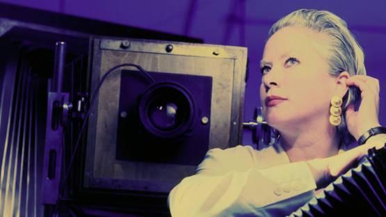 Ellen Carey - Portrait in the Polaroid (detail), Photo by Douglas Levere