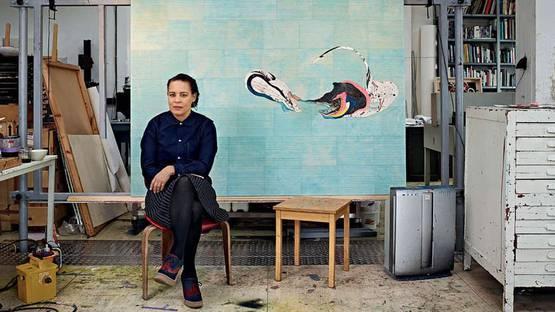 Ellen Gallagher in her studio in Rotterdam, Netherlands