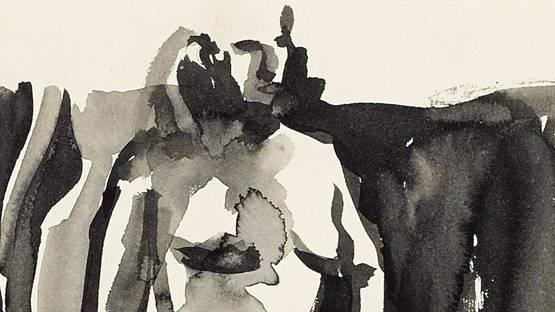 Elmer Bischoff - Standing Nude (detail) - image via bonhamscom