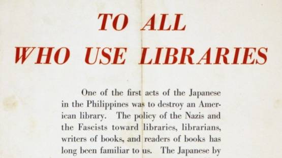 Elmer Davis - Elmer Davis Librarian Quote (detail)
