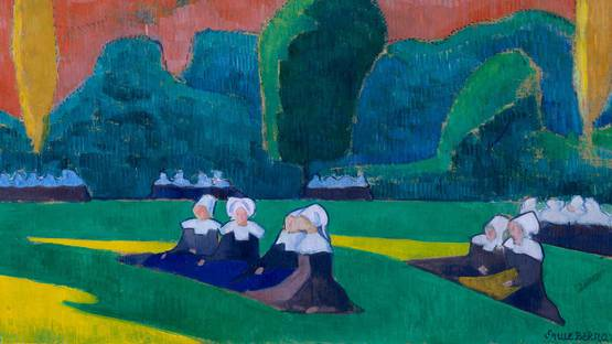Emile Bernard, Breton Women at Prayer, 1892